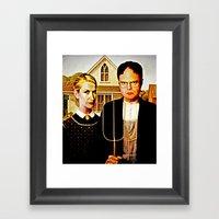 Dwight Schrute & Angela … Framed Art Print