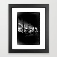 Vintage Pollution Framed Art Print
