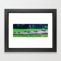 Turtle Walk Framed Art Print