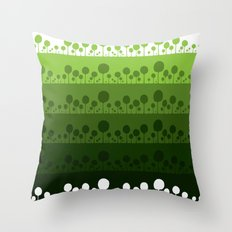 Green palette ultimate Throw Pillow