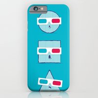 iPhone & iPod Case featuring 3D Shapes by paddyroo