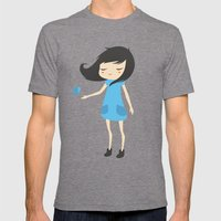 Girl And A Butterfly 2 Mens Fitted Tee Tri-Grey SMALL