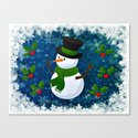 Snowman - Happy Holidays Canvas Print
