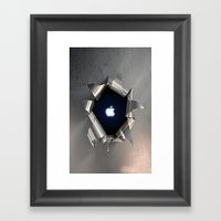 Apple Hole Framed Art Print