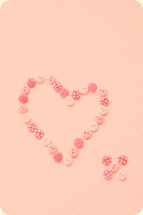 Button Heart  Art Print