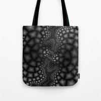 Black and White Fractal 1 Tote Bag