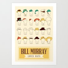 Bill's Hat Collection Art Print