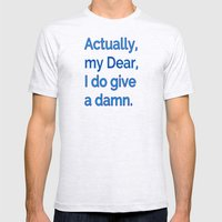 Actually, My Dear Mens Fitted Tee Ash Grey SMALL