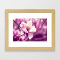 Lonely Flower - Radiant Orchid Framed Art Print