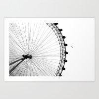 London: London Eye Art Print