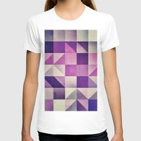 :: Geometric Maze VI :: Womens Fitted Tee White SMALL