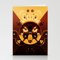 Ying-Yang Gold Cross Version Stationery Cards