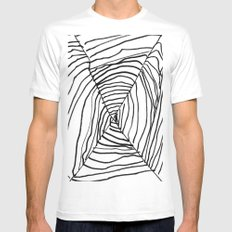 SPIDER WEB BY EDITH BOAM AGE 5 SMALL White Mens Fitted Tee