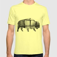 Buffalo (The Living Things Series)  Mens Fitted Tee Lemon SMALL