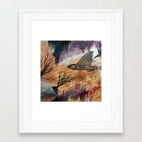 Literary Flying Fish Framed Art Print