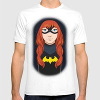 Batgirl Mens Fitted Tee White SMALL