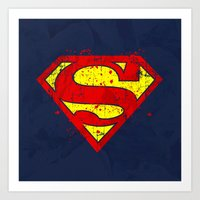 Super Man's Splash Art Print