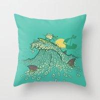 Surfin' Soundwaves Throw Pillow