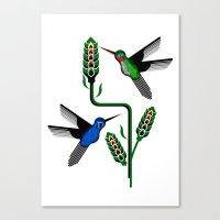 Geohummingbirds Canvas Print