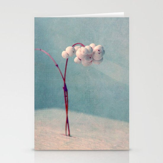 snowberries II Stationery Card