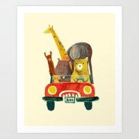 Visit The Zoo Art Print