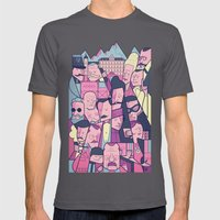 Grand Budapest Hotel Mens Fitted Tee Asphalt SMALL