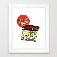 Ford Mustang 1969 Framed Art Print