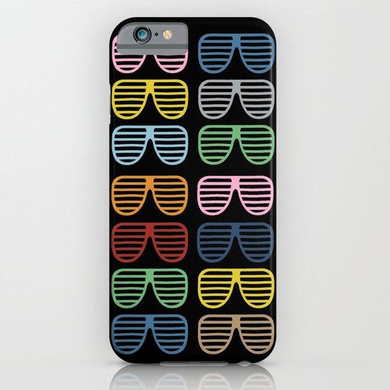Rainbow Shutter Shades at Night iPhone & iPod Case