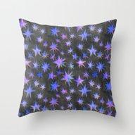 Starry Night {grey} Throw Pillow