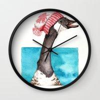 Canada Goose In A Canada… Wall Clock