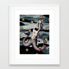No Mythologies: Siren Framed Art Print