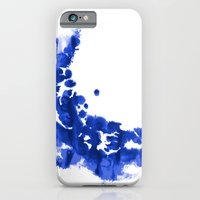 Paint 9 abstract indigo watercolor painting minimal modern canvas affordable dorm college art  iPhone 6 Slim Case
