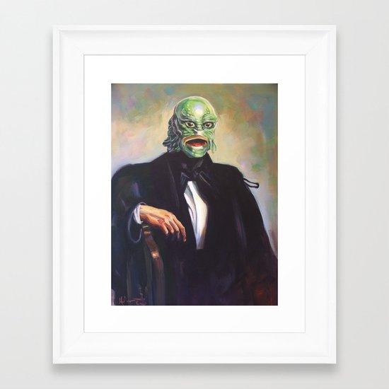 Portrait of Monsieur Gills Framed Art Print