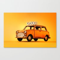 Toy Taxi Canvas Print
