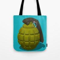 Hand Grenade Tote Bag