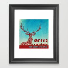 Christmas Reindeer Framed Art Print