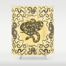 Snakes Pattern Shower Curtain