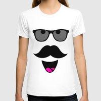 mustache T-shirts featuring Mustache by siti fadillah