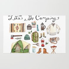 Let's Go Camping Rug