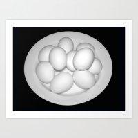Eggs Still Life Art Print