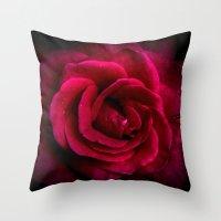 Texture Of A Rose Throw Pillow
