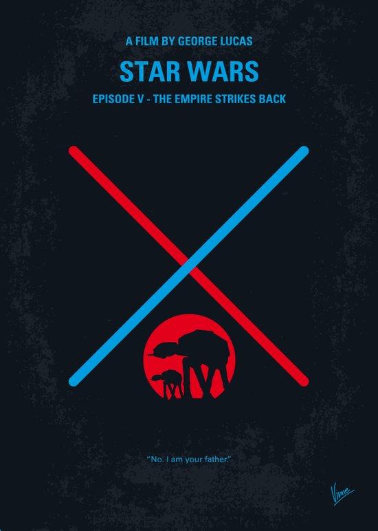 No155 My STAR Episode V The Empire Strikes Back WARS minimal movie poster Canvas Print