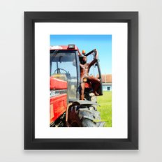 happiness is in the meadow Framed Art Print