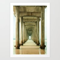 Scripps Pier Long Exposure Art Print