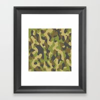 Military Pattern Framed Art Print