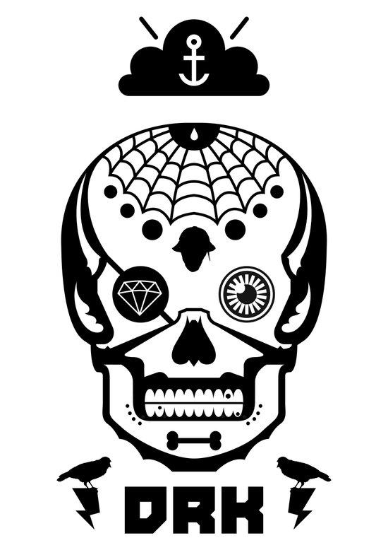 Mexican Skull Art Print