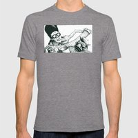 Peter Panhandler Mens Fitted Tee Tri-Grey SMALL