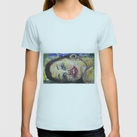 DREAMING TOO Womens Fitted Tee Light Blue SMALL