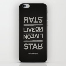 Palindrome: Rats Live On... iPhone & iPod Skin