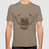 Bastet Mens Fitted Tee Tri-Coffee SMALL